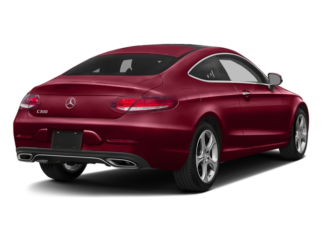 designo Cardinal Red Metallic 2017 Mercedes-Benz C-Class Pictures C-Class Coupe 2D C300 AWD photos rear view