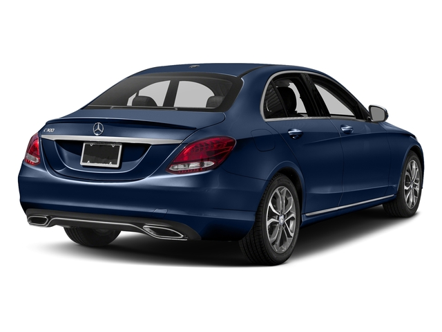 Brilliant Blue Metallic 2017 Mercedes-Benz C-Class Pictures C-Class Sedan 4D C300 I4 Turbo photos rear view