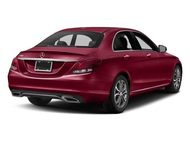 designo Cardinal Red Metallic 2017 Mercedes-Benz C-Class Pictures C-Class Sedan 4D C300 I4 Turbo photos rear view
