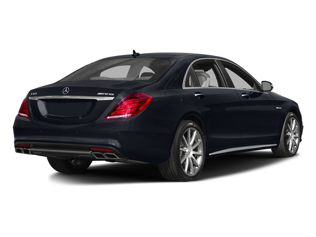Anthracite Blue Metallic 2017 Mercedes-Benz S-Class Pictures S-Class Sedan 4D S63 AMG AWD V8 Turbo photos rear view