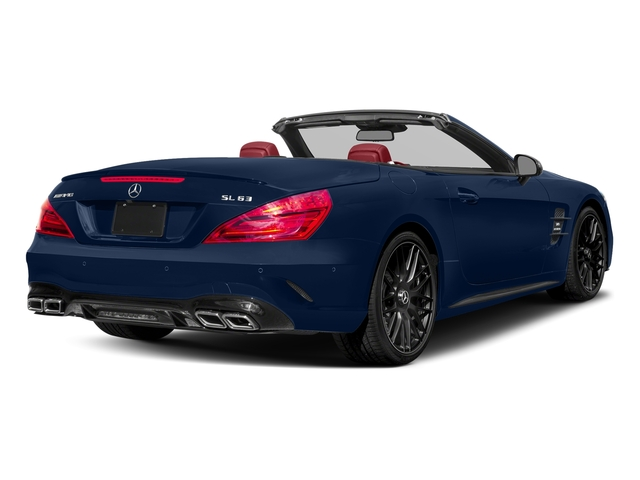 Brilliant Blue 2017 Mercedes-Benz SL Pictures SL AMG SL 63 Roadster photos rear view