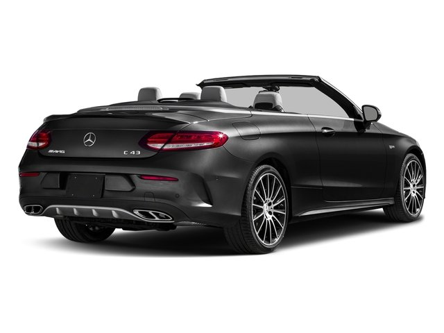 Obsidian Black Metallic 2017 Mercedes-Benz C-Class Pictures C-Class AMG C 43 4MATIC Cabriolet photos rear view
