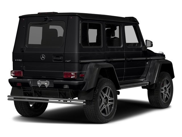 Black 2017 Mercedes-Benz G-Class Pictures G-Class G 550 4x4 Squared SUV photos rear view