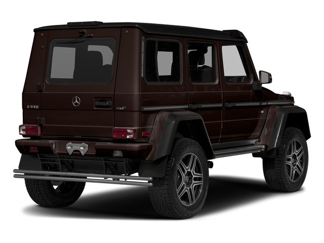 designo Mystic Brown 2017 Mercedes-Benz G-Class Pictures G-Class G 550 4x4 Squared SUV photos rear view