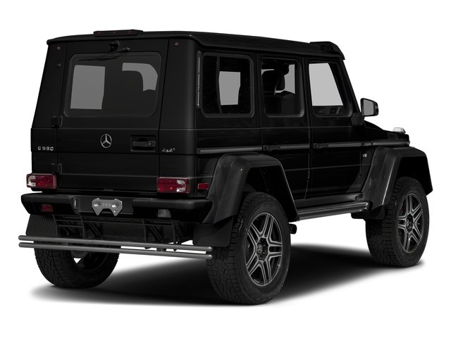 Magnetite Black Metallic 2017 Mercedes-Benz G-Class Pictures G-Class G 550 4x4 Squared SUV photos rear view