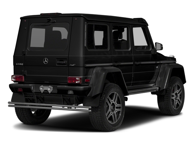 Obsidian Black Metallic 2017 Mercedes-Benz G-Class Pictures G-Class G 550 4x4 Squared SUV photos rear view