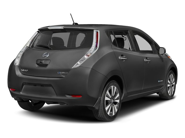 Gun Metallic 2017 Nissan LEAF Pictures LEAF SV Hatchback photos rear view