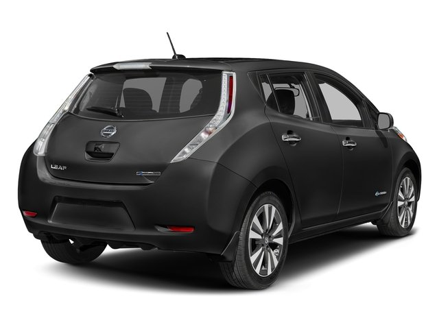 Super Black 2017 Nissan LEAF Pictures LEAF SV Hatchback photos rear view
