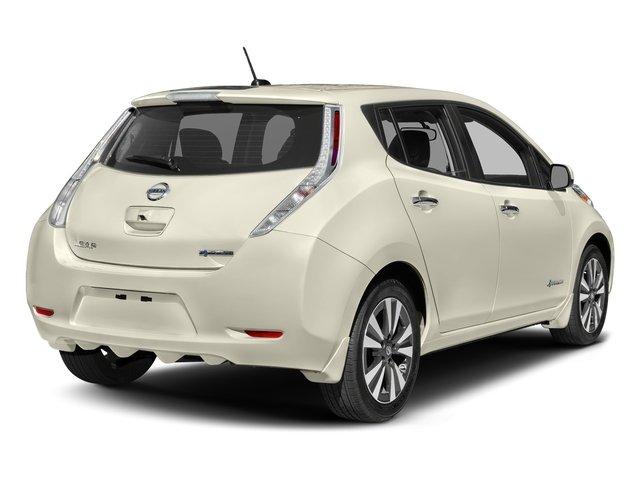 Pearl White 2017 Nissan LEAF Pictures LEAF SV Hatchback photos rear view