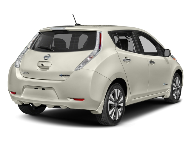 Glacier White 2017 Nissan LEAF Pictures LEAF SV Hatchback photos rear view