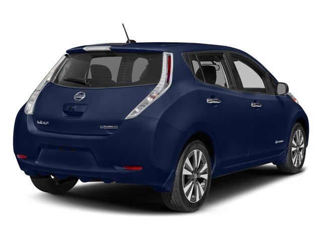 Deep Blue Pearl 2017 Nissan LEAF Pictures LEAF SV Hatchback photos rear view
