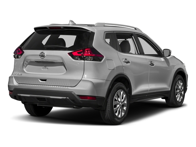 Brilliant Silver 2017 Nissan Rogue Pictures Rogue Utility 4D S 2WD I4 photos rear view