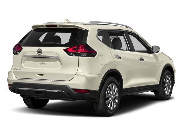 Pearl White 2017 Nissan Rogue Pictures Rogue Utility 4D SV 2WD I4 photos rear view