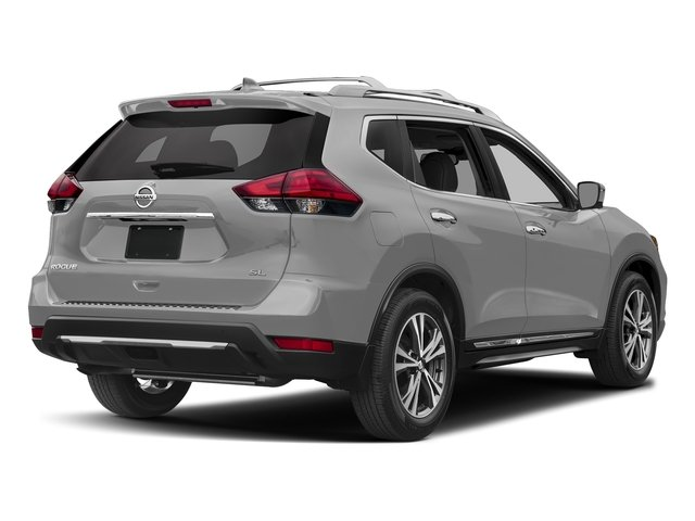 Brilliant Silver 2017 Nissan Rogue Pictures Rogue Utility 4D SL AWD I4 photos rear view