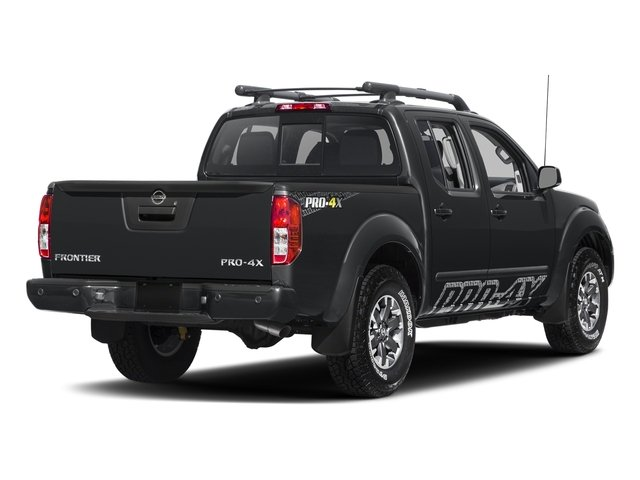 Magnetic Black 2017 Nissan Frontier Pictures Frontier Crew Cab PRO-4X 4WD photos rear view