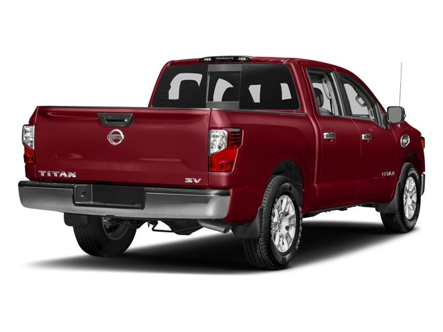 Cayenne Red 2017 Nissan Titan Pictures Titan Crew Cab SV 2WD photos rear view
