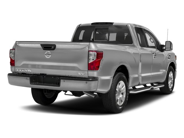 Brilliant Silver 2017 Nissan Titan Pictures Titan King Cab SV 2WD photos rear view