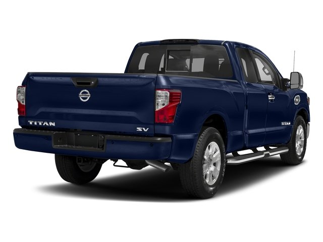 Deep Blue Pearl 2017 Nissan Titan Pictures Titan King Cab SV 2WD photos rear view