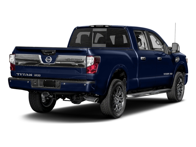 Deep Blue Pearl 2017 Nissan Titan XD Pictures Titan XD Crew Cab Platinum Reserve 4WD photos rear view