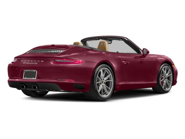 Carmine Red 2017 Porsche 911 Pictures 911 Carrera 4S Cabriolet photos rear view