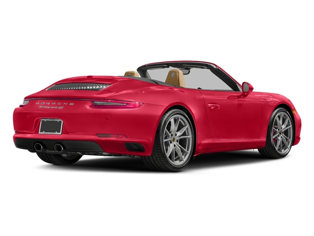 Guards Red 2017 Porsche 911 Pictures 911 Carrera 4 Cabriolet photos rear view