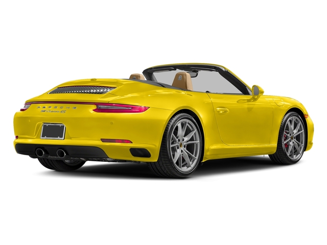 Racing Yellow 2017 Porsche 911 Pictures 911 Carrera 4S Cabriolet photos rear view