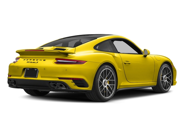 Racing Yellow 2017 Porsche 911 Pictures 911 Turbo S Coupe photos rear view
