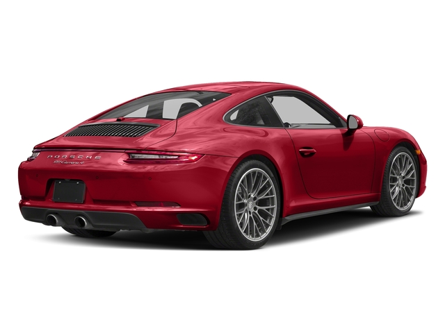 Carmine Red 2017 Porsche 911 Pictures 911 Carrera 4 Coupe photos rear view
