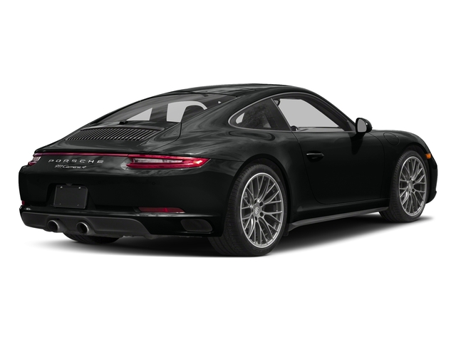 Jet Black Metallic 2017 Porsche 911 Pictures 911 Carrera 4 Coupe photos rear view