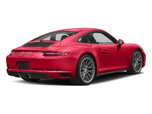 Guards Red 2017 Porsche 911 Pictures 911 Carrera 4 Coupe photos rear view