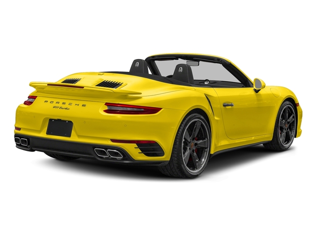 Racing Yellow 2017 Porsche 911 Pictures 911 Turbo Cabriolet photos rear view