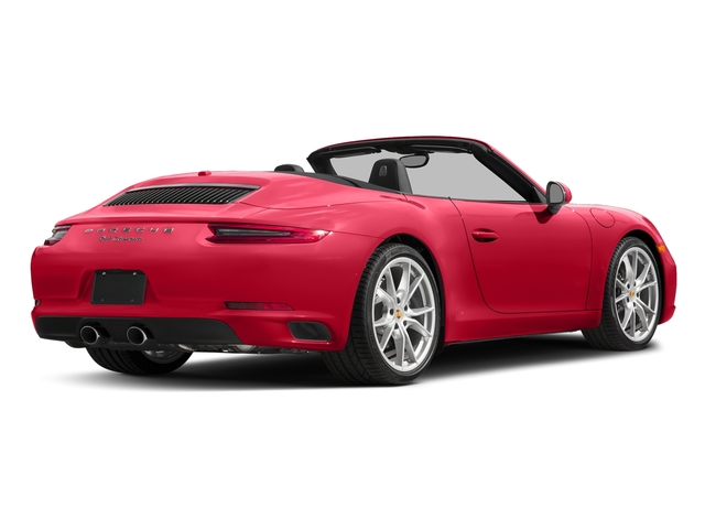 Guards Red 2017 Porsche 911 Pictures 911 Carrera Cabriolet photos rear view