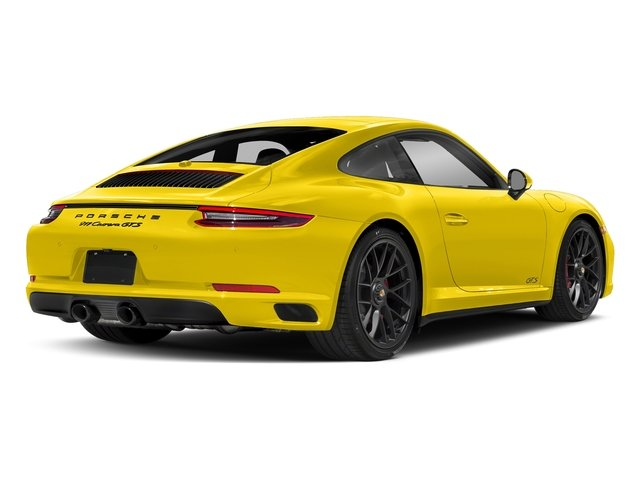 Racing Yellow 2017 Porsche 911 Pictures 911 Carrera GTS Coupe photos rear view