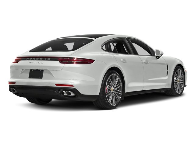 White 2017 Porsche Panamera Pictures Panamera Turbo Executive AWD photos rear view