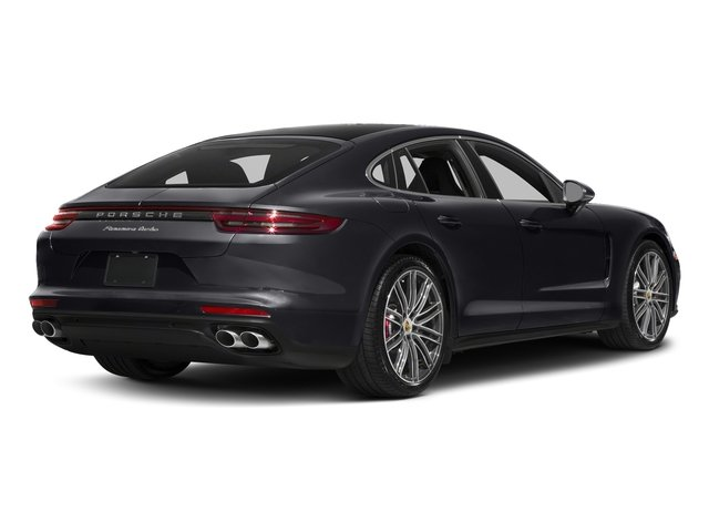 Jet Black Metallic 2017 Porsche Panamera Pictures Panamera Turbo Executive AWD photos rear view
