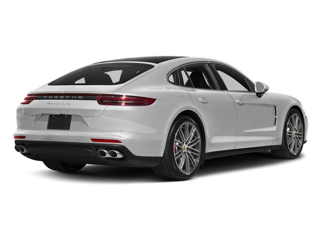Carrara White Metallic 2017 Porsche Panamera Pictures Panamera Turbo Executive AWD photos rear view