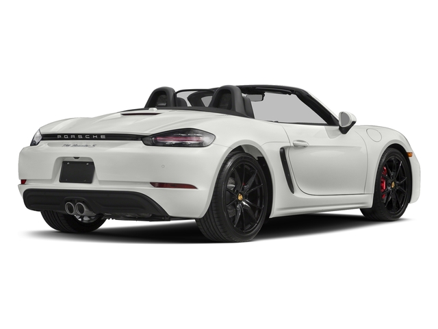 White 2017 Porsche 718 Boxster Pictures 718 Boxster Roadster 2D S H4 Turbo photos rear view