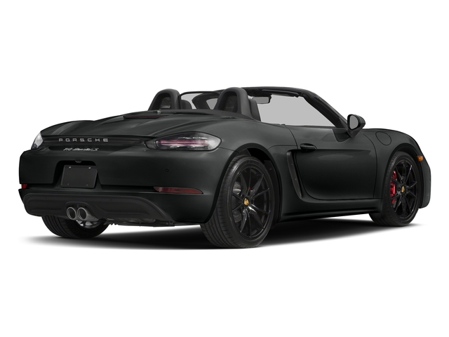 Jet Black Metallic 2017 Porsche 718 Boxster Pictures 718 Boxster Roadster 2D S H4 Turbo photos rear view
