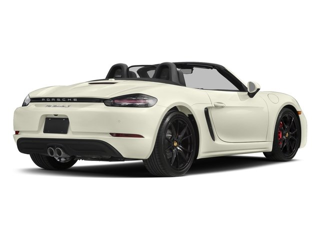 Carrara White Metallic 2017 Porsche 718 Boxster Pictures 718 Boxster Roadster 2D S H4 Turbo photos rear view