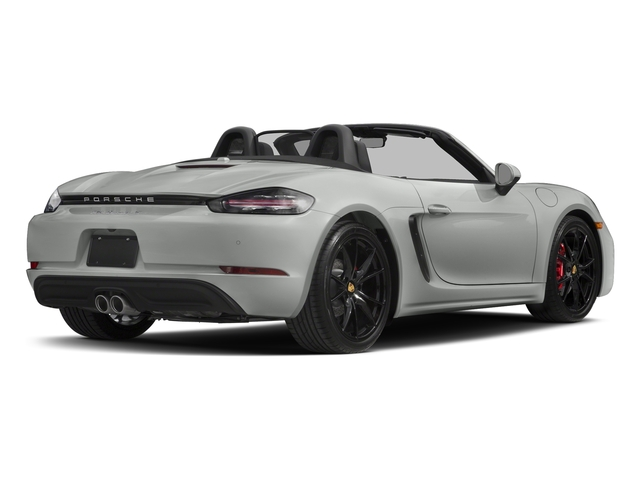 Rhodium Silver Metallic 2017 Porsche 718 Boxster Pictures 718 Boxster Roadster 2D S H4 Turbo photos rear view