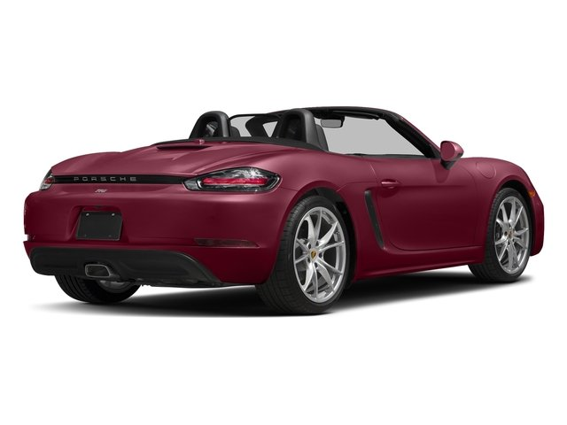 Carmine Red 2017 Porsche 718 Boxster Pictures 718 Boxster Roadster photos rear view