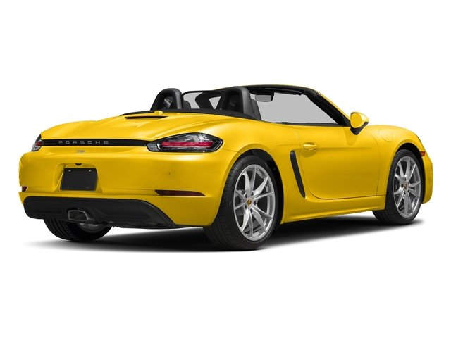 Racing Yellow 2017 Porsche 718 Boxster Pictures 718 Boxster Roadster photos rear view