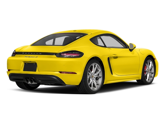 Racing Yellow 2017 Porsche 718 Cayman Pictures 718 Cayman S Coupe photos rear view