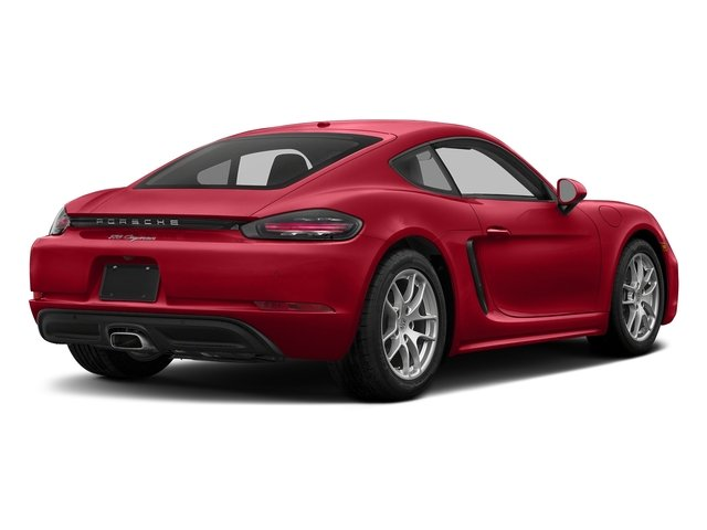 Carmine Red 2017 Porsche 718 Cayman Pictures 718 Cayman Coupe photos rear view
