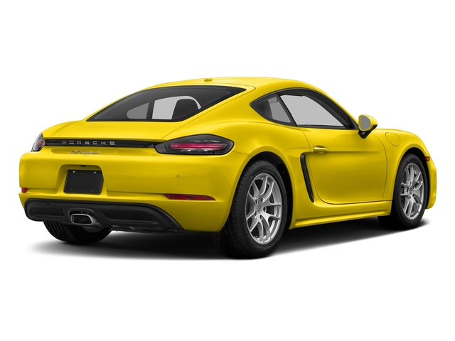 Racing Yellow 2017 Porsche 718 Cayman Pictures 718 Cayman Coupe photos rear view