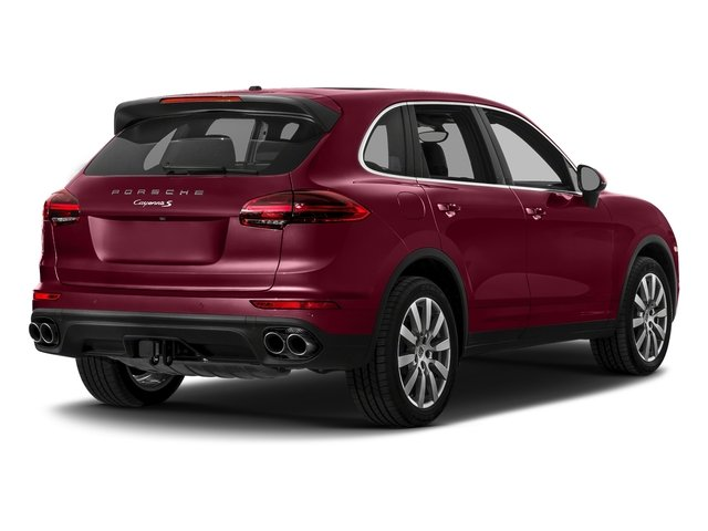 Carmine Red 2017 Porsche Cayenne Pictures Cayenne S AWD photos rear view