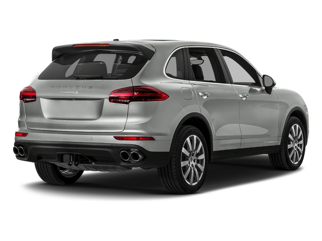 Rhodium Silver Metallic 2017 Porsche Cayenne Pictures Cayenne S AWD photos rear view