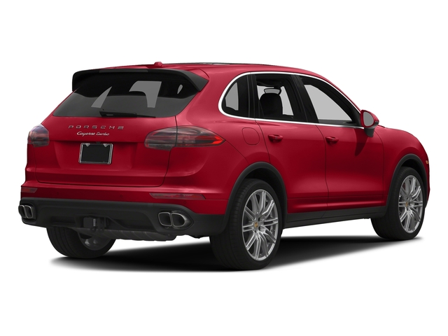 Carmine Red 2017 Porsche Cayenne Pictures Cayenne Turbo AWD photos rear view