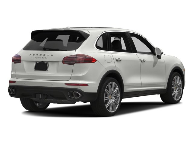 White 2017 Porsche Cayenne Pictures Cayenne Turbo AWD photos rear view