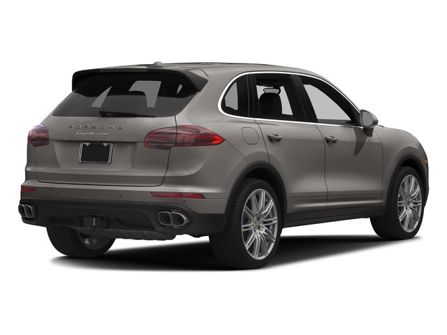 Meteor Grey Metallic 2017 Porsche Cayenne Pictures Cayenne Turbo AWD photos rear view